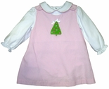 Girl's Crocheted Christmas Tree Dress and Blouse by Petit Ami