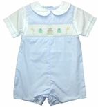 Boy's Smocked Birthday John John by Petit Ami