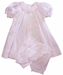 Girl's Smocked Dress and Bloomers in Pink by Petit Ami