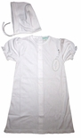 Embroidered Cross Christening Gown for Baby Girls with Bonnet
