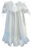 Pieces By Tam Girl's Heirloom Flower Girl Portrait Dress in Blue or Pink.