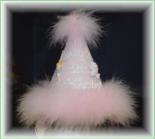 Girl's 1st Birthday Hat, Hand Painted by Pretty Little Things.