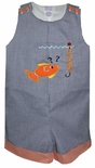 Custom Made Puzzled Fish Monogrammed John John.