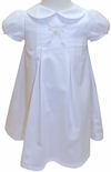 Rosalina Embroidered White and Ecru Day Gown for Baby Girls