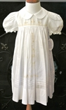 Rosalina Heirloom Dress in White With Ecru Embroidery