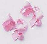 Girl's Hair Bow Pony O Pony Tail Bow in Grosgrain, Set of 2