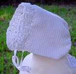 Baby Girl's Crochet Bonnet in White