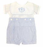 Sweet Dreams Boy's Monogrammable Blue Button On
