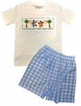 Three Sisters Smocked Jungle Book Short Set for Boys