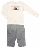 Vive La Fete Boy's Smocked Fishing Shirt and Pants
