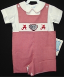 Boy's Smocked John John in University of Alabama Colors by Vive La Fete