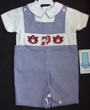 Boy's Smocked John John in Auburn University Colors by Vive La Fete.