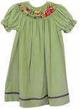Vive La Fete Smocked Barn and Scarecrow Fall Dress