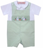 Boy's Smocked Easter Bunny Rabbits John John By Vive La Fete.