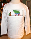 Smocked Christmas Shirt for Boys, Christmas Tree by Vive La Fete