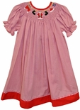 Smocked Christmas Dress for Girls with Santa's Suit by Vive La Fete