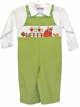 Vive La Fete Smocked Fall Farm Harvest Pumpkin Longall
