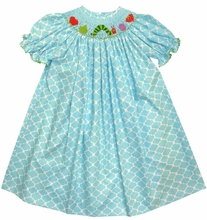 Vive La Fete Smocked Hungry Caterpillar Dress