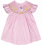 Vive La Fete Smocked Mother Goose and Babies Dress