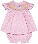 Vive La Fete Smocked Mother Goose and Babies Bloomers Outfit
