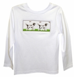 Boy's Smocked Shirt with Pointer Dogs by Vive La Fete
