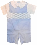 Vive Le Fete Smocked Blue John John and Blouse