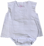 Will'Beth Diaper Set in Linen with Embroidery