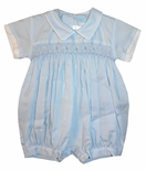 Will'Beth Smocked Baby Boy's Blue Bubble