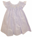 Will'Beth Smocked Lavender Dress with Flutter Angel Wings