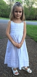 Will'Beth White Crochet Shoulder Straps Dress with White Pearls