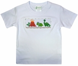 Zuccini Age of the Dinosaurs with Volcano Smocked Boy's Shirt