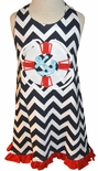 Zuccini Appliqued Cruise Halter Dress for Girls