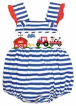 Zuccini Baby Girl's Smocked Farm Animals Bubble