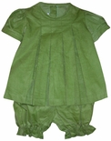 Zuccini Girl's Bloomers Outfit in Lime Green Corduroy