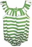 Zuccini Girl's Bubble in Green with Folded Collar