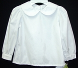 Girl's White Blouse with Long Sleeves by Zuccini