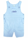 Boy's Monogrammed Romper-John John in Light Blue