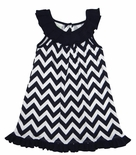 Zuccini Monogrammable Navy Chevron Dress