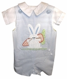 Zuccini Boy's Reversible John John with Bunny and Frog