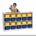 20-Tray Mobile Cubicle w/ Multi-Color Trays
