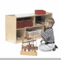 "24"" H Single Toddler 2-Shelf Mobile Storage"