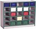 25 Tray Cubbie Storage Unit