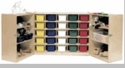 25-Tray Cubby 6 Shelf Storage