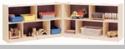 "30"" High 10 Section, 2 Shelf Toy and Block Fold and Lock Mobile Storage"