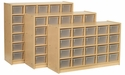 30 Tray Cubbie Storage Unit
