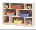 "36""H Single 3-Shelf Mobile Storage"