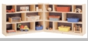 "36"" High 16-Section, 3-Shelf Fold and Lock Mobile Storage"