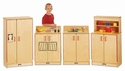 Jonti-Craft® Natural Birch Play Kitchen 4 Piece Set