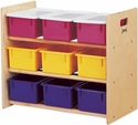 JonTi-Craft Tote Storage Rack 9 Trays