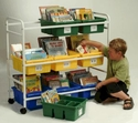 Leveled Reading Book Browser Cart without Book Display Racks